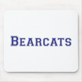 Bearcats square logo in blue mouse pad