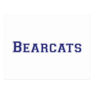 Bearcats square logo in blue postcard