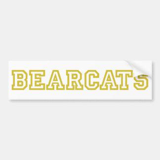 Bearcats square logo in gold car bumper sticker
