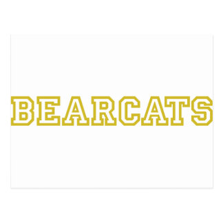 Bearcats square logo in gold postcard