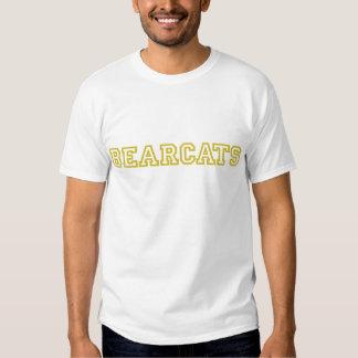 Bearcats square logo in gold tee shirt
