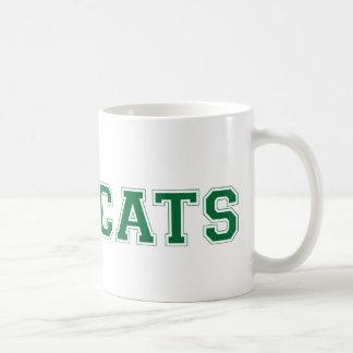 Bearcats square logo in green classic white coffee mug