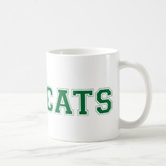 Bearcats square logo in green coffee mug