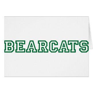 Bearcats square logo in green greeting card