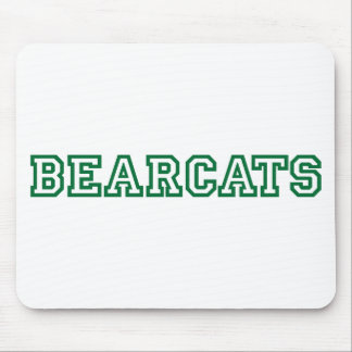 Bearcats square logo in green mouse pad
