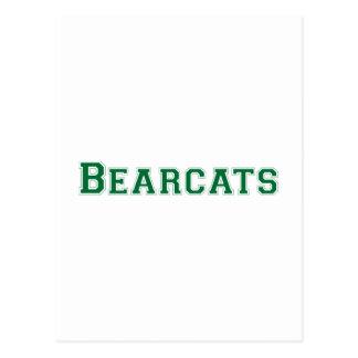 Bearcats square logo in green postcard