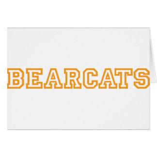 Bearcats square logo in orange greeting card