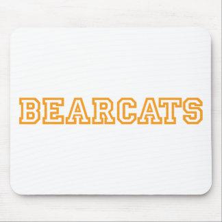 Bearcats square logo in orange mouse pad