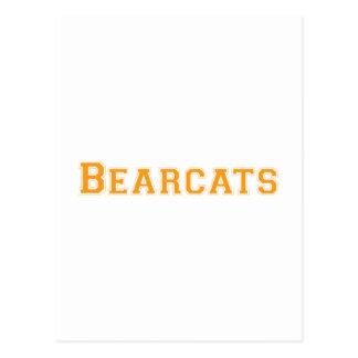 Bearcats square logo  in orange postcard