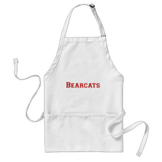 Bearcats square logo  in red adult apron