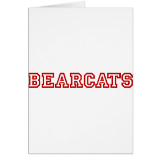 Bearcats square logo in red greeting card