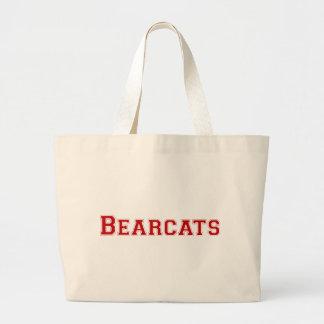 Bearcats square logo  in red jumbo tote bag