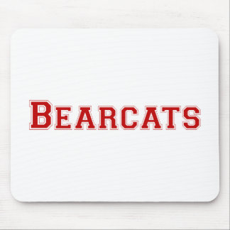 Bearcats square logo  in red mouse pad