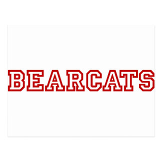 Bearcats square logo in red postcard