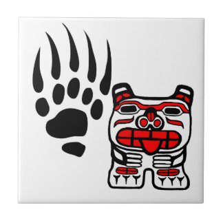 bearclaw, Haida bear Ceramic Tile