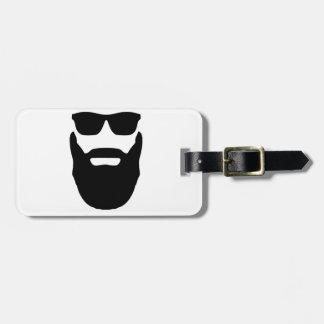Beard and Sunglasses Luggage Tag