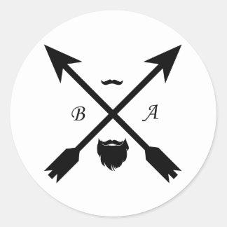 beard apparel classic round sticker
