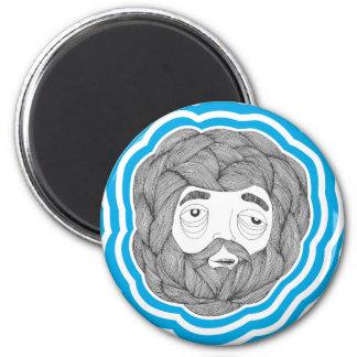 Beard Ball 2 Inch Round Magnet