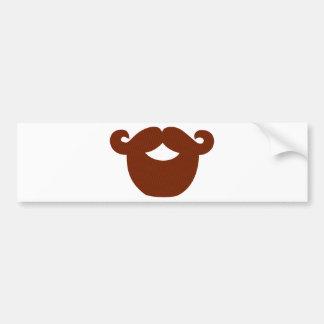 Beard Car Bumper Sticker
