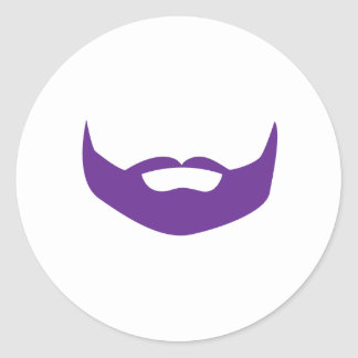 Beard Classic Round Sticker