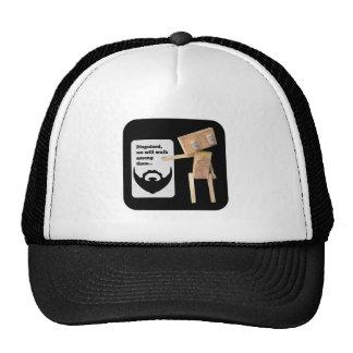 Beard disguise robot trucker hat