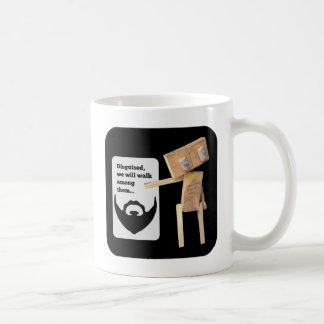 Beard disguise robot mug