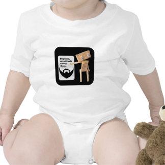 Beard disguise robot baby creeper