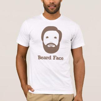 Beard Face -- Brown T-Shirt