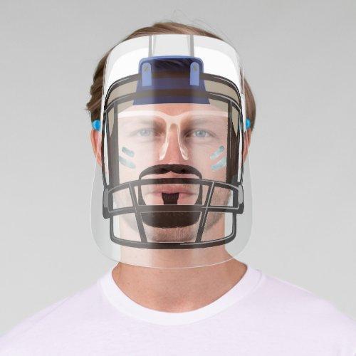 Beard  Football Helmet Eye Black Lines Face Shield