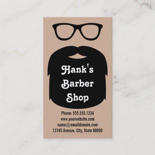 Beard  Glasses Business Card