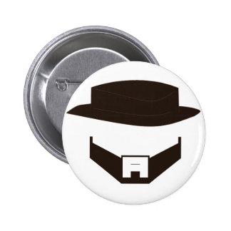 Beard & Hat - Original Pinback Button