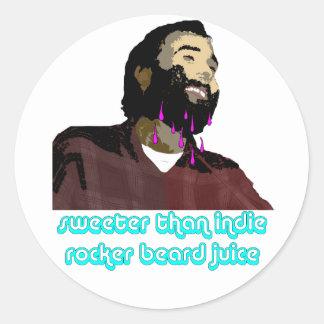 Beard Juice 10 Classic Round Sticker