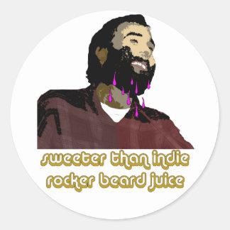 Beard Juice 1 Classic Round Sticker