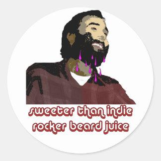 Beard Juice 3 Classic Round Sticker