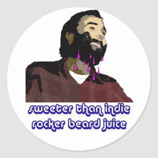 Beard Juice 5 Classic Round Sticker