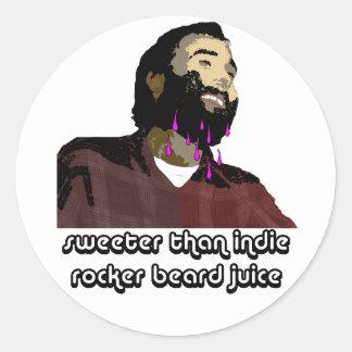 Beard Juice 6 Classic Round Sticker