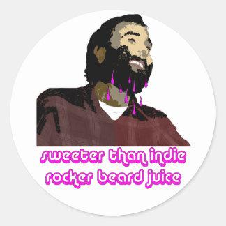 Beard Juice 9 Classic Round Sticker