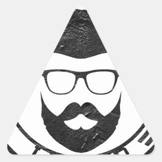Beard leader triangle sticker