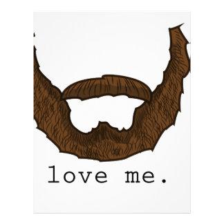 Beard Love Me Graphic Custom Letterhead