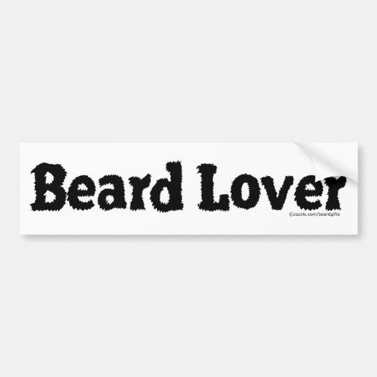 Beard Lover Funny Fuzzy Letters Template Black Bumper Sticker