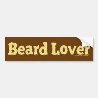 Beard Lover Funny Fuzzy Letters Template Blond Bumper Sticker