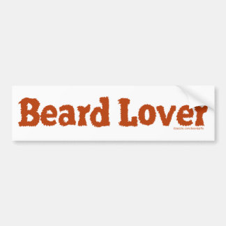 Beard Lover Funny Fuzzy Letters Template Redhead Bumper Stickers