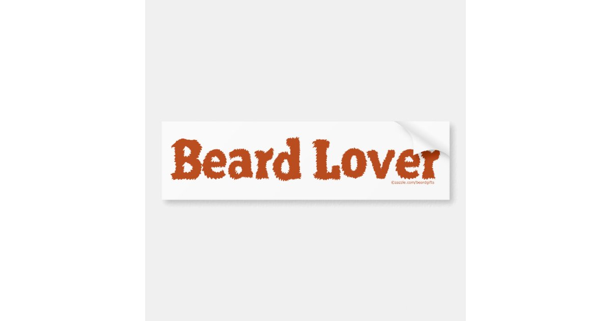 beard lover funny fuzzy letters template redhead bumper sticker zazzle. Black Bedroom Furniture Sets. Home Design Ideas