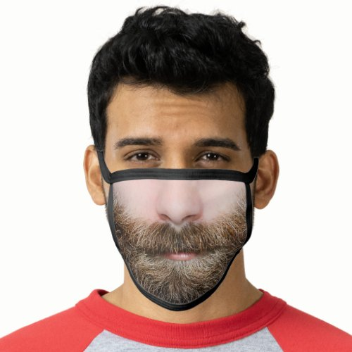 Beard Man Bearded Funny Photo or Customize Face Mask