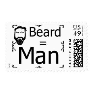 Beard = Man stamp