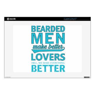 "beard men makes better lovers 15"" laptop decal"