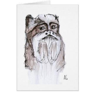 Beard Monkey Greetings Card