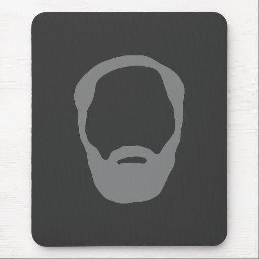 beard mouse pad