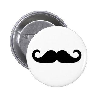 Beard - Mustache Pinback Button