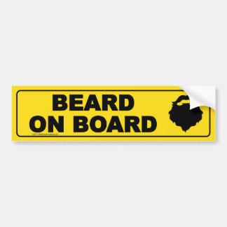 Beard on Board Bumper Sticker